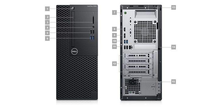 DELL OptiPlex MT 3060/Core i5-8500/4GB/1TB/Intel UHD/DVD-RW/Win 10 Pro 64bit/3Yr NBD
