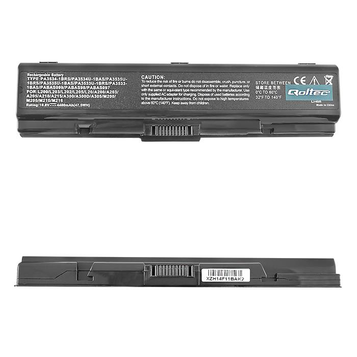Qoltec Long Life baterie pro notebooky Toshiba A200 A300, 10.8-11.1V | 4400mAh