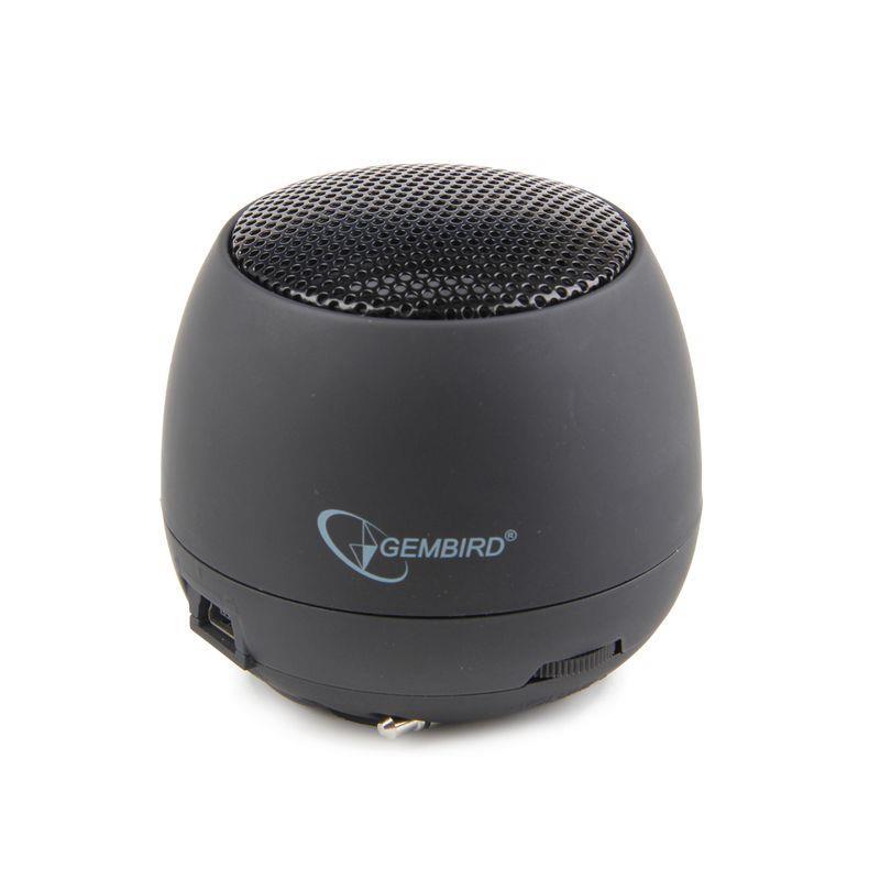 Gembird přenosní reproduktory (iPod, MP3 player, mobilní telefon, laptop) black