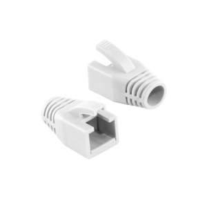 LOGILINK - Strain Relief Boot 8.0 mm for Cat.6 RJ45 plugs, white