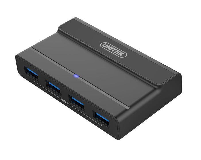 Unitek Y-HB08003 Hub 4x USB 3.1 s napájením