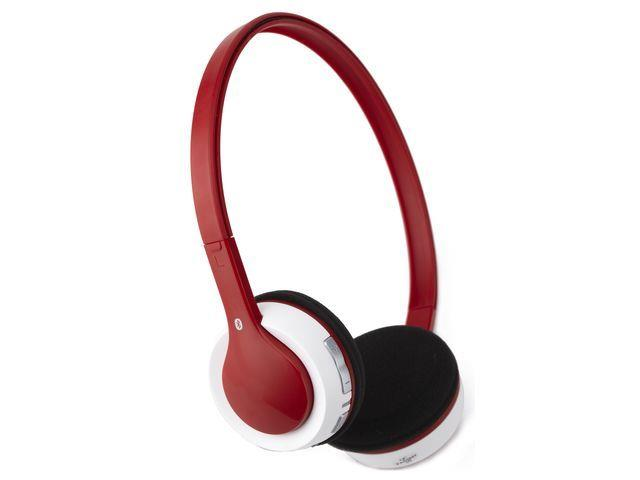 Gembird Bluetooth headphones, microphone & stereo, red color