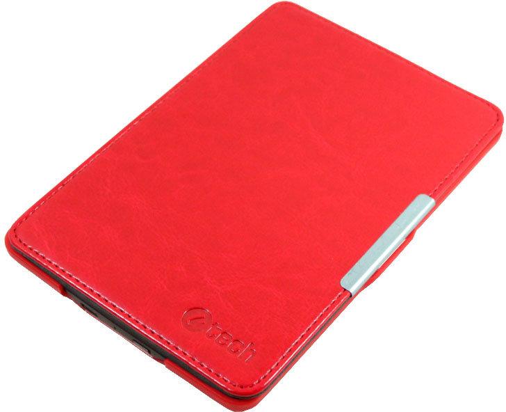 C-TECH PROTECT pouzdro pro Amazon Kindle 6 TOUCH, WAKE/SLEEP funkce,hardcover, AKC-10, červené