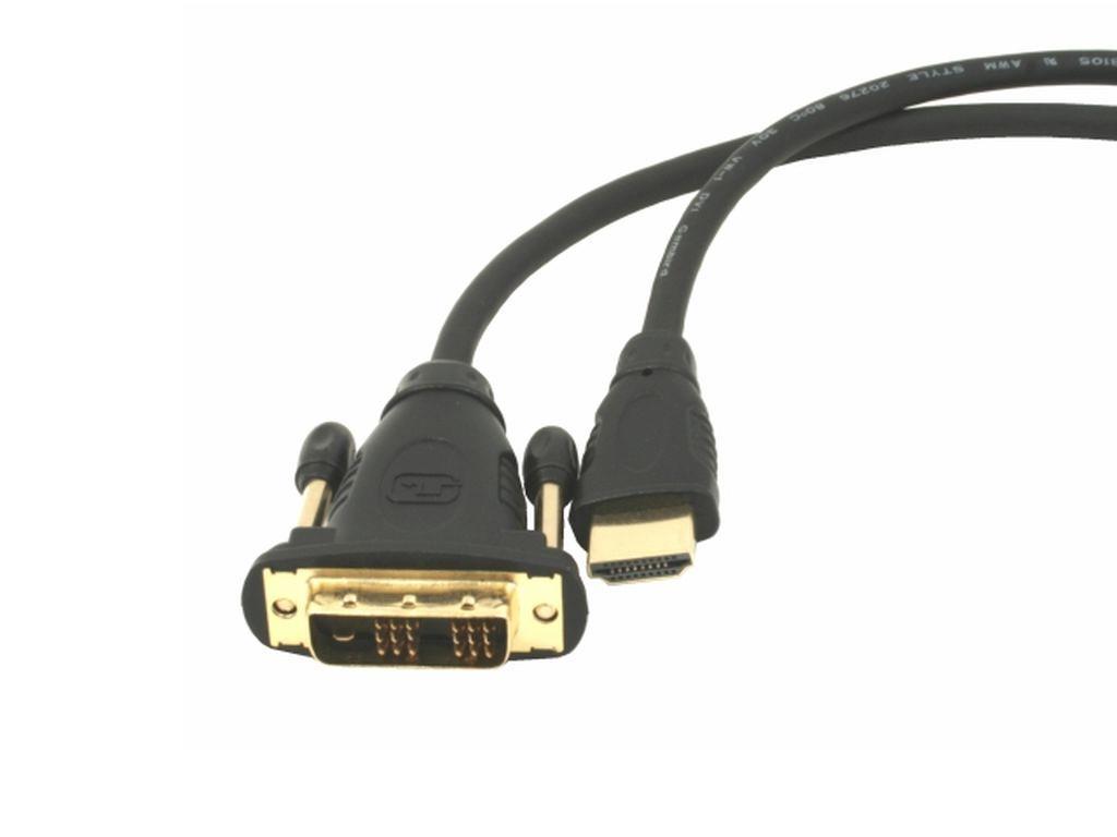 Gembird HDMI - DVI male-male kabel (pozlacené konektory 18+1) 1.8m