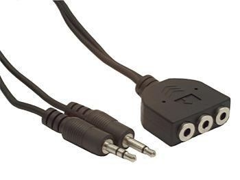 Gembird kabel audio prodlužovací 2x JACK 3.5mm samec/3x JACK 3.5mm samice, 1m