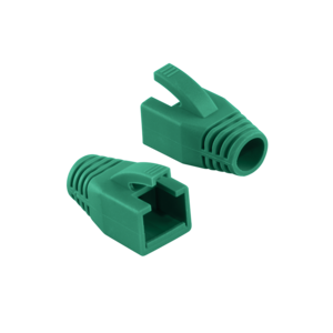 LOGILINK - Strain Relief Boot 8.0 mm for Cat.6 RJ45 plugs, green