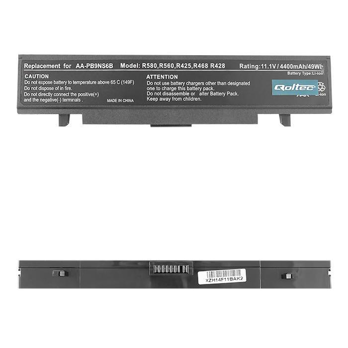 Qoltec Long Life baterie pro notebooky SAMSUNG R425/R428 11.1V | 4400mAh