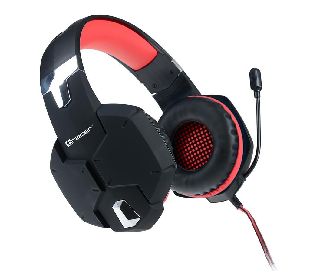 Tracer DRAGON herní sluchátka červená