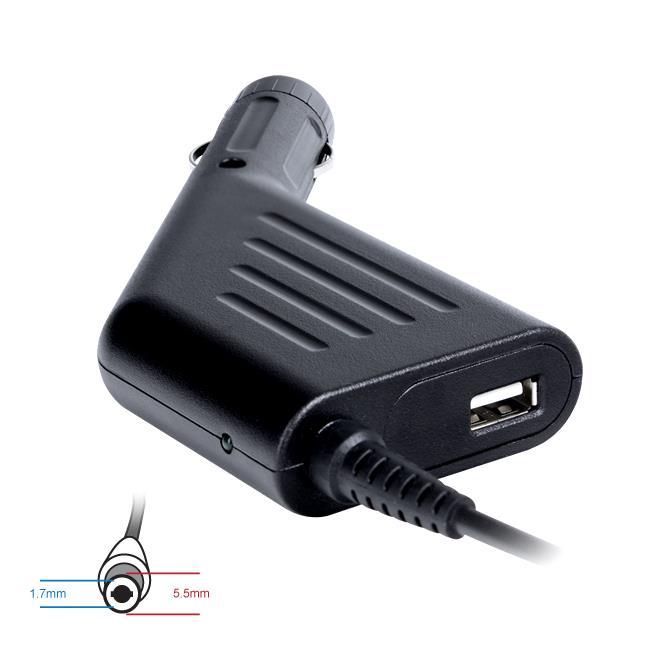 Digitalbox napájecí adaptér do auta pro Acer 19V/4.74A 90W, (5.5x1.7) USB