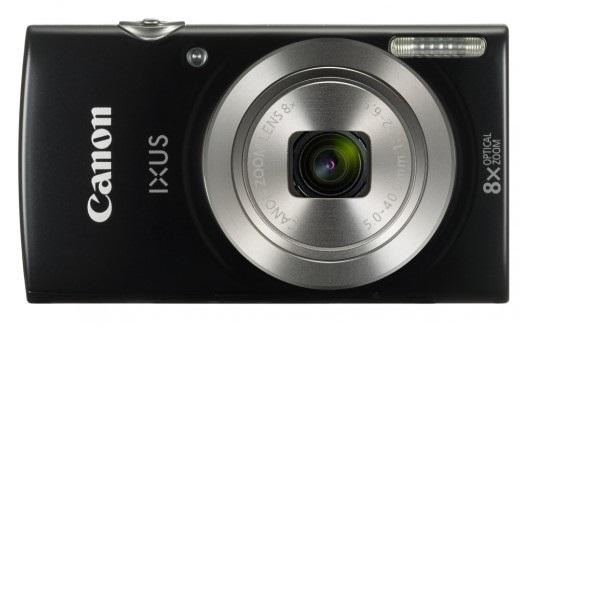 "Canon IXUS 185 BLACK - 20MP, 8x zoom, 28-224mm, 2,7"", HD video"