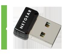 Netgear Wireless-N150 USB Adapter Micro (WNA1000M)