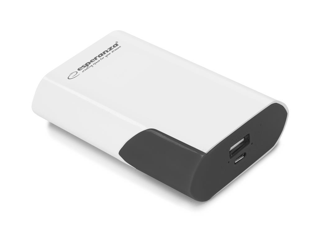 Esperanza EMP111WK BOSON externí baterie 6000mAh, bílo-černá