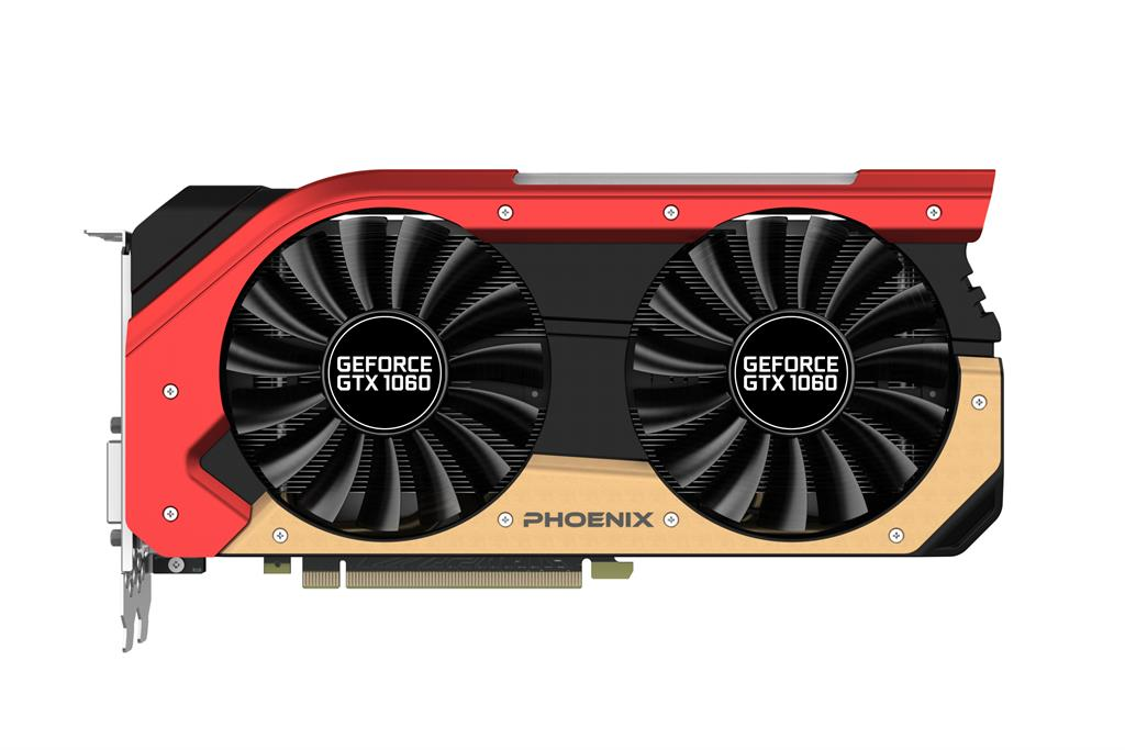 Gainward GeForce GTX 1060 Phoenix, 6GB GDDR5 (192 Bit), HDMI, DVI, 3xDP