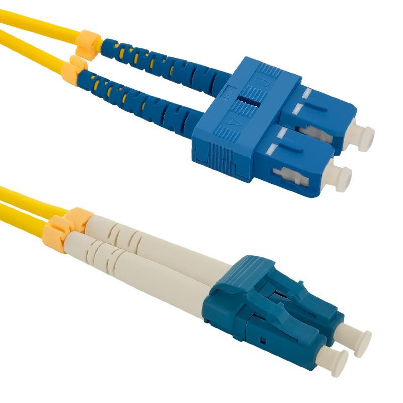 Qoltec Optic Patchcord SC/UPC-LC/UPC | Singlemode | 9/125 | G652D | Duplex | 1m