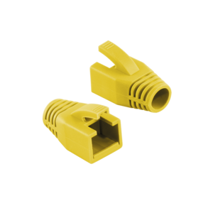 LOGILINK - Strain Relief Boot 8.0 mm for Cat.6 RJ45 plugs, yellow