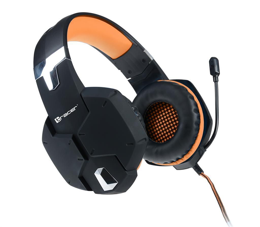 Tracer DRAGON herní sluchátka oranžová