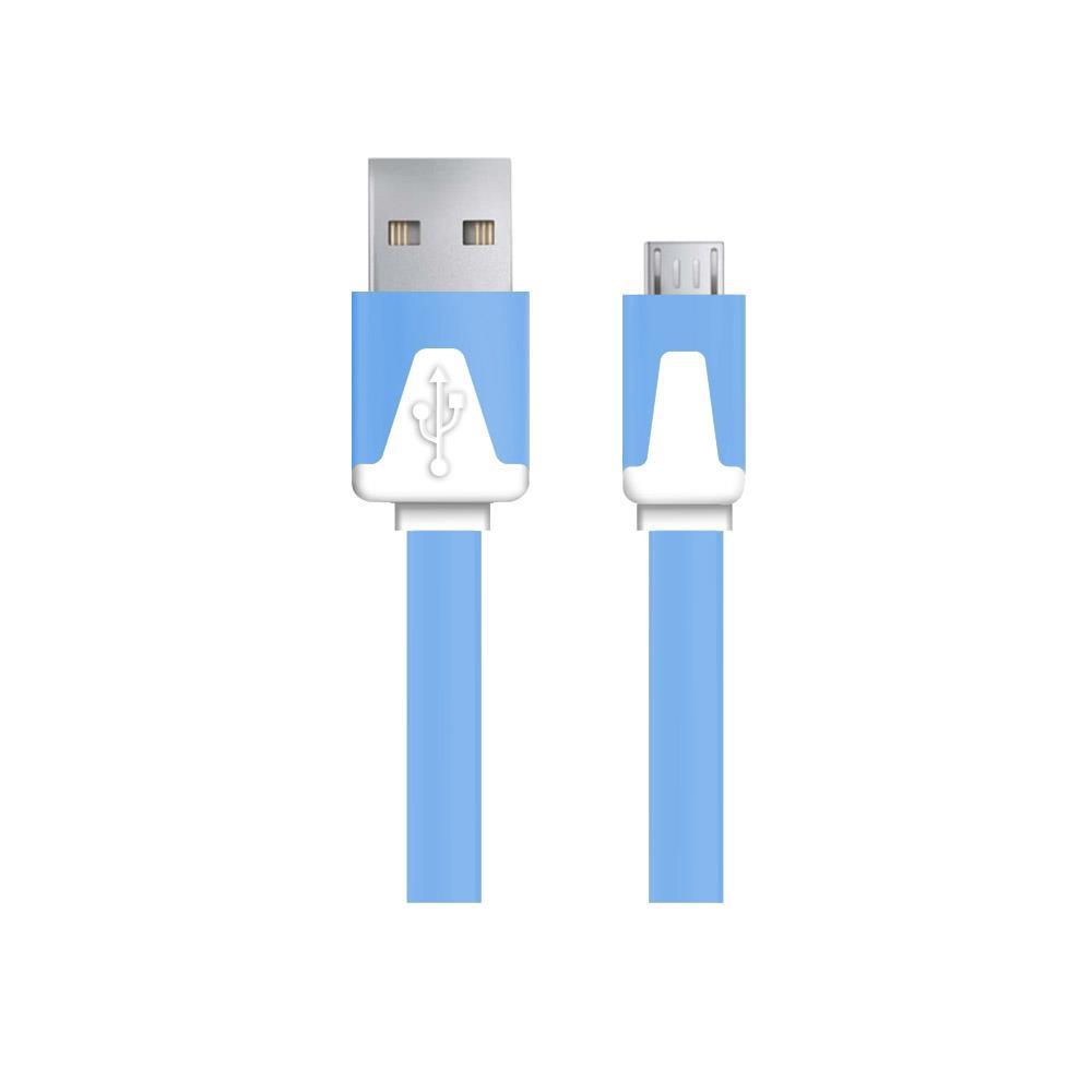 Esperanza EB183B kabel Micro USB 2.0 A-B M/M 1.0m, plochý, modrý