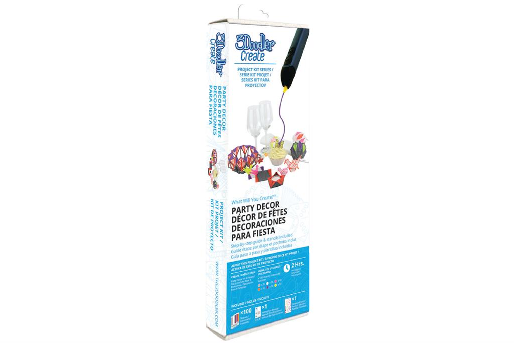 3DOODLER Project Kits to the 3Doodler Create, PRO, 2.0 & 1.0 Party Decor