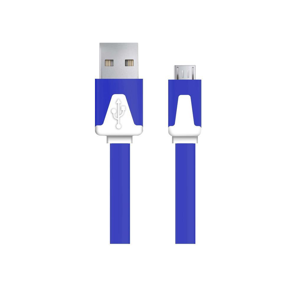 Esperanza EB183DB kabel Micro USB 2.0 A-B M/M 1.0m, plochý, granátový