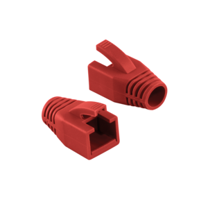 LOGILINK - Strain Relief Boot 8.0 mm for Cat.6 RJ45 plugs, red