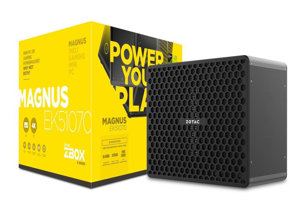 ZOTAC MAGNUS EK51070, i5-7300HQ, GTX 1070 8G mini, 2x DDR4 SODIMM, 4x M2 PCIe