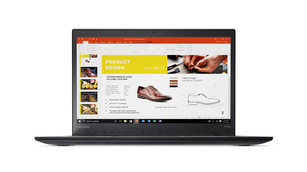 Lenovo Thinkpad T470s 14''FH/i7-7600U/8G/512 SSD/Intel HD Graphics/F/W10P/černý