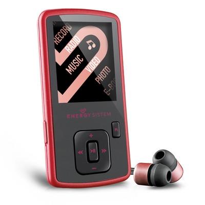 ENERGY MP4 Slim3 Ruby Red (8GB, MicroSD), FM, sluchátka, pouzdro