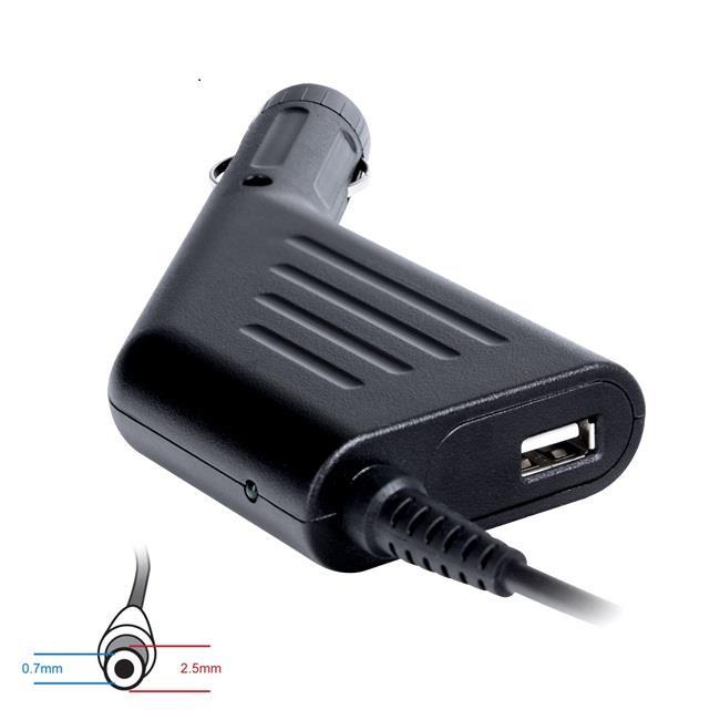 Digitalbox napájecí adaptér do auta pro Asus eee PC 19V/2.1A 40W, (2.5x0.7) USB