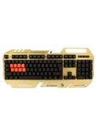 A4tech Bloody B418 podsvícená herní klávesnice, USB, CZ, zlatá barva