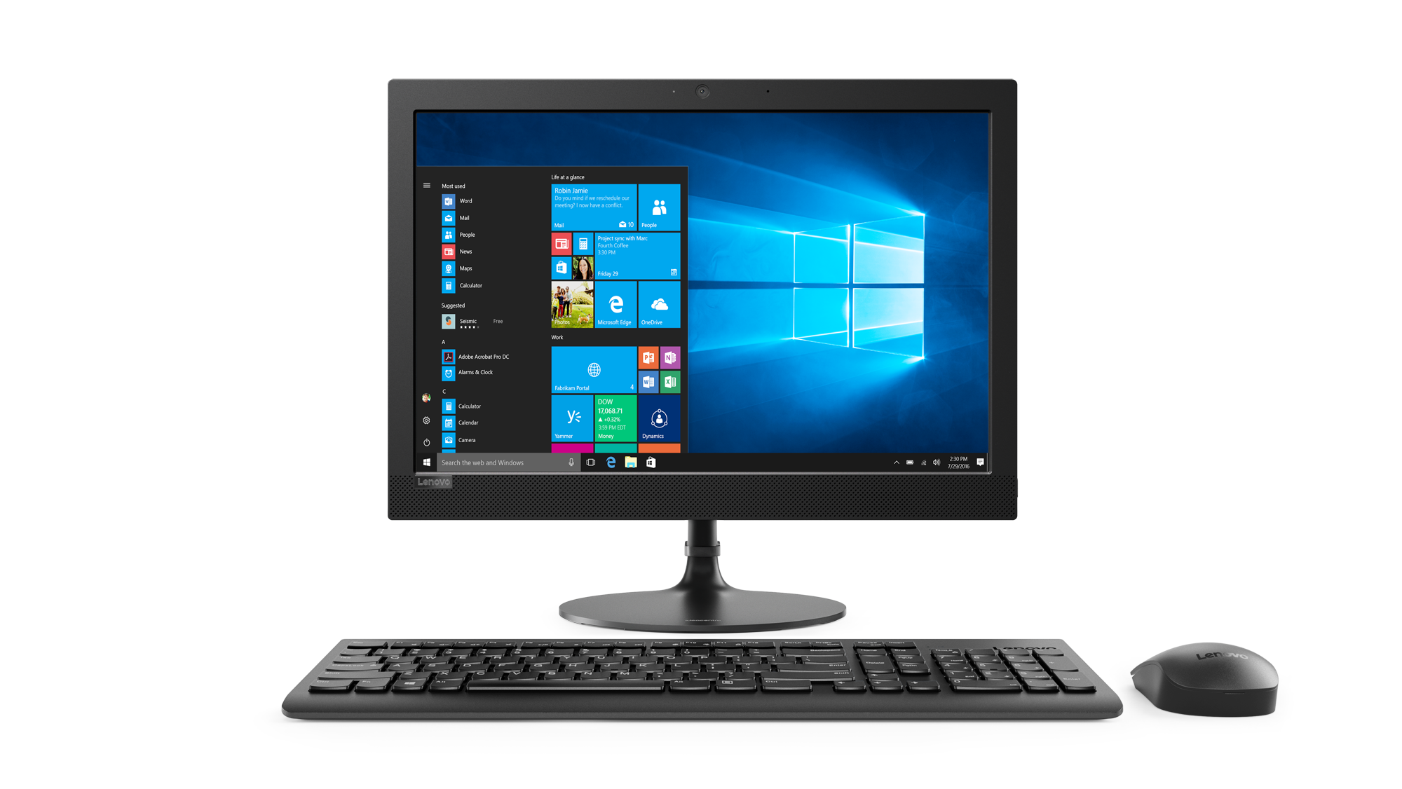 "Lenovo IdeaCentre AIO 330-20AST AMD A6 9200 2,80GHz/4GB/1TB/19,5"" HD+/WIN10 černá F0D8002JCK"