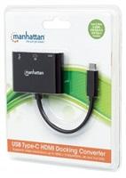 Manhattan USB-C 3.1 multiport adaptér -> VGA/USB-A/USB-C černý