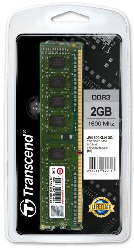 DIMM DDR3 2GB 1600MHz TRANSCEND JetRam™, 256Mx8 CL11, retail
