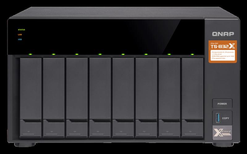 QNAP TS-832X-8G(1.7GHz/8GB RAM/8xSATA)
