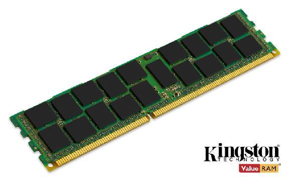 Kingston DDR3L 8GB DIMM 1.35V 1600MHz CL11 ECC Reg SR x4 Intel certifikace