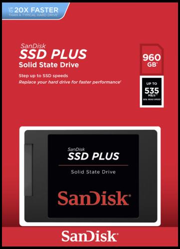 """SSD 2,5"""" 960GB SanDisk Plus SATAIII 7mm"""