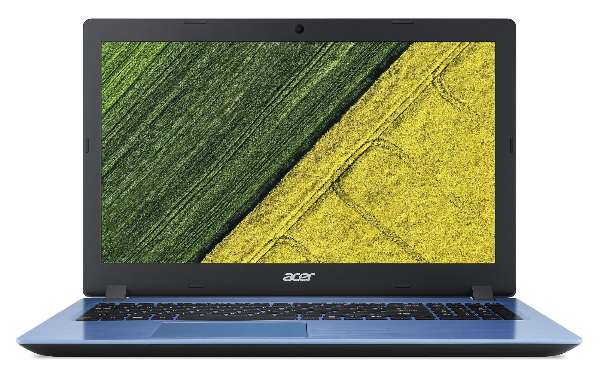 "Acer Aspire 3 (A315-32-P2TD) Pentium N5000/4GB OB+N/128GB SSD+N (HDD)/HD Graphics/15.6"" FHD LED matný/W10 Home/Blue"
