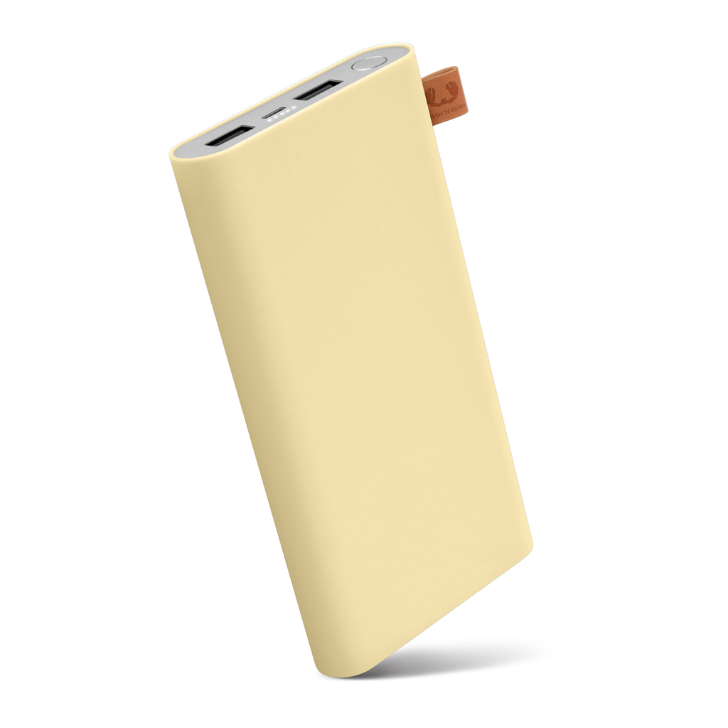 FRESH´N REBEL Powerbanka 12000 mAh, 3,1 A (max.), 2 porty, Buttercup, světle žlutá (verze 2018)