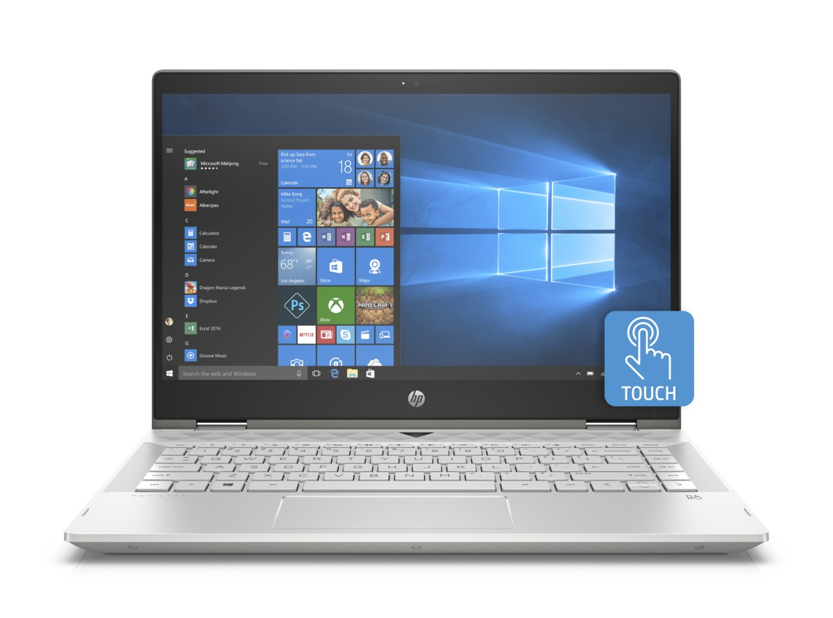 "HP x360 Pav 14-cd0016nc/14"" FHD TOUCH/Intel i5-8250U/6GB/256GB SSD/UHD 620/Win 10 Home/Mineral-silver"