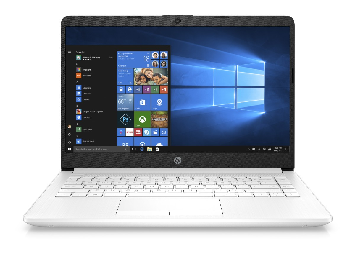 HP 15-bs150nc Intel N5000 14.0 HD 4GB 256-SSD IntelHD W10 white