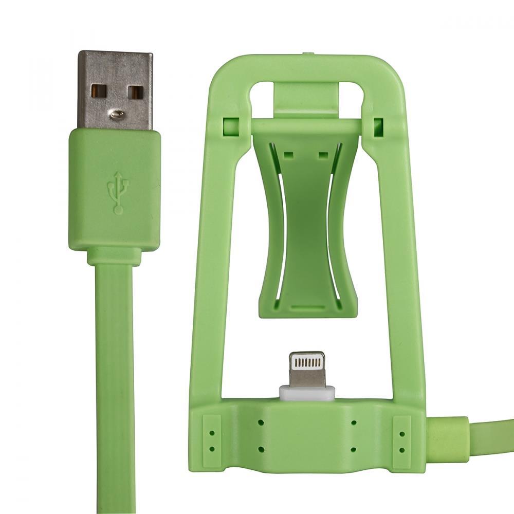 GT kabel USB s dokovací stanicí pro iPhone 6s/6/5s/5, iPad Air, zelený
