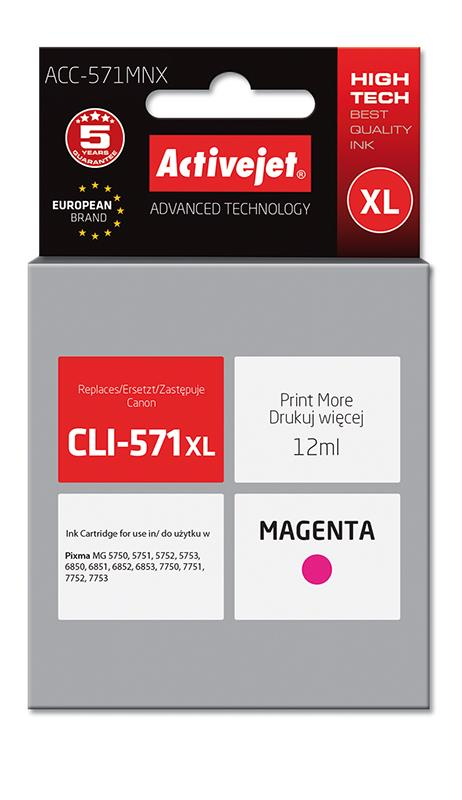 ActiveJet ink Canon CLI-571M XL new ACC-571MNX 12 ml