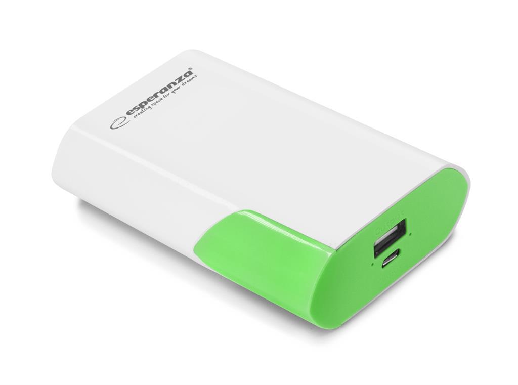 Esperanza EMP111WG BOSON externí baterie 6000mAh, bílo-zelená