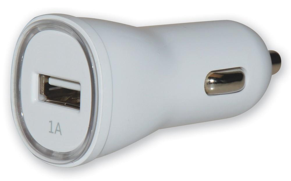 Techly USB nabíječka do auta 12/24V - 5V 1A bílá