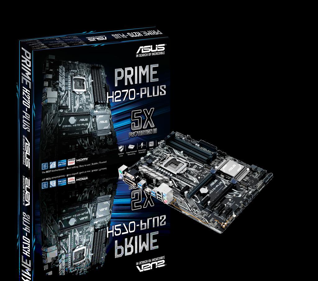 ASUS PRIME H270-PLUS, LGA1151, H270, TPM, M.2, SATA 6Gb/s, USB 3.0