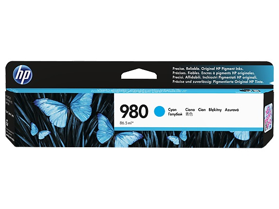 HP 980 Cyan Ink Cart, D8J07A