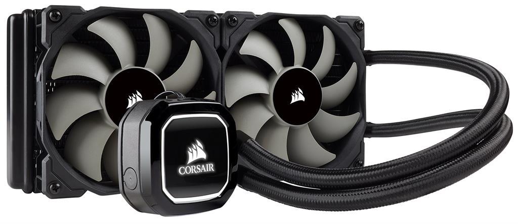 Corsair bezúdržbové vodní chlazení CPU Hydro Series H100, 2x120mm vent.