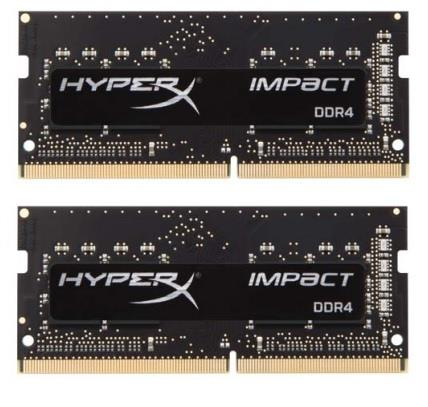Kingston DDR4 16GB (Kit 2x8GB) HyperX Impact SODIMM 2933MHz CL17 černá