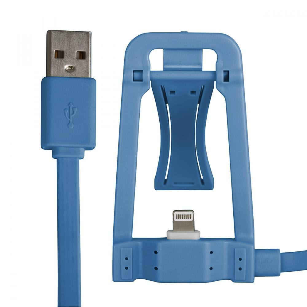 GT kabel USB s dokovací stanicí pro iPhone 6s/6/5s/5, iPad Air, modrý