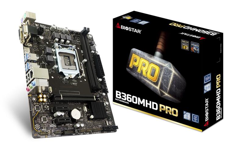 Biostar B360MHD PRO, Intel B360, LGA 1151, DDR4