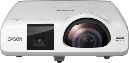EPSON projektor EB-536Wi, 1280x800, 3400ANSI, HDMI, VGA, LAN, SHORT,10.000h ECO živ. lampy, REPRO 16W, interaktivní